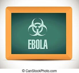 deska, znak, ilustracja, ebola