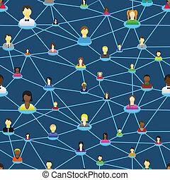 diagram, ludzie, towarzyski, handlowy