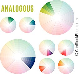 diagram, psychologia, kolor