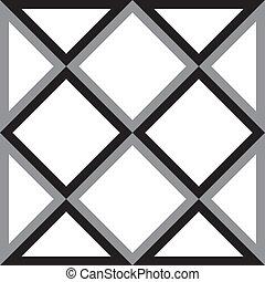 diament, trójkąt, abstrakcyjny, skwer, tło, trydimensional, złudzenie