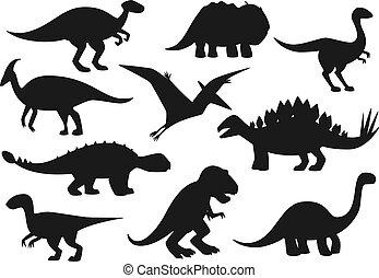 dino, dinozaury, potwory, jurajski, park, gadzina