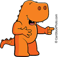 dinozaur, śmiech