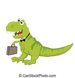dinozaur, ilustracja, śmiech
