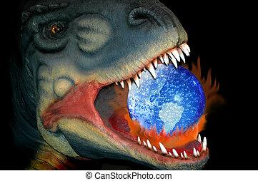dinozaur, ryczałt dogrzewający, droga