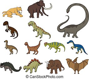dinozaur, rysunek, ilustracja, desig