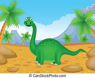 dinozaur, zielony