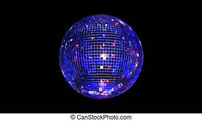 disco piłka, 4k, pętla, lustro