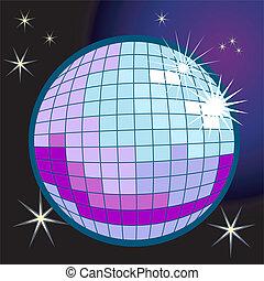 disco piłka, ilustracja