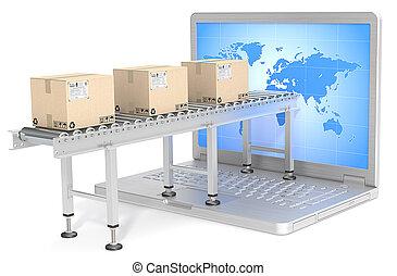 distribution., globalny