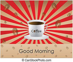 dobry, kawa, rano
