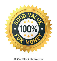 dobry, pieniądze, wartość, etykieta