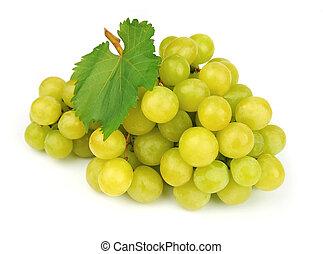 dojrzały, zielone winogrona