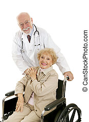 doktor, pacjent, &, przyjacielski