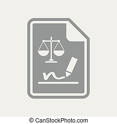 dokument, podpis, prawny, ikona