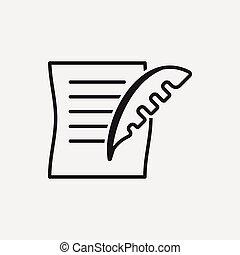 dokument, prawny, ikona