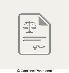 dokument, prawny, podpis