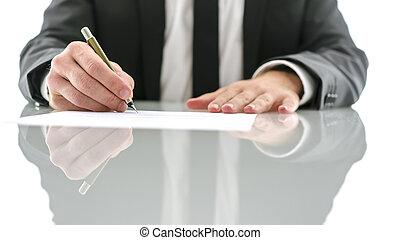 dokument, znacząc, prawnik