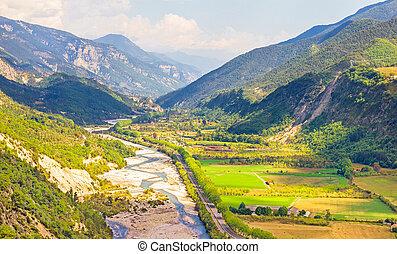 dolina, południowa francja