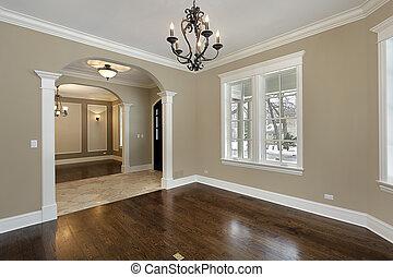 dom, żyjący, zbudowanie, pokój, nowy