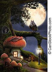 dom, fairytale, (mushroom)