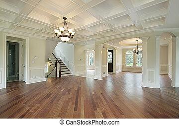 dom, foyer, zbudowanie, nowy
