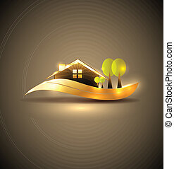 dom, ogród, symbol