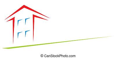 dom, strzała