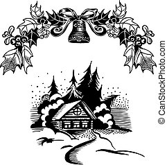 dom, wieniec, boże narodzenie