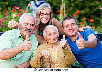 dom wizyta, pielęgnacja, rodzina