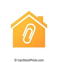 dom, zacisk, ikona