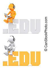 domena, posiedzenie, poznaczcie., litera, .edu, 3d