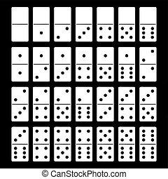 domino wystawiają, ilustracja