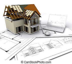 domowe zbudowanie, pod