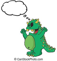 domyślana bańka, zielony potwór
