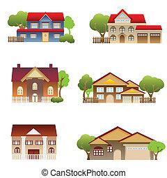 domy, różny
