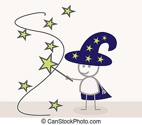 doodle, czarodziej, magia