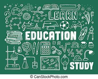 doodle, wykształcenie, elementy