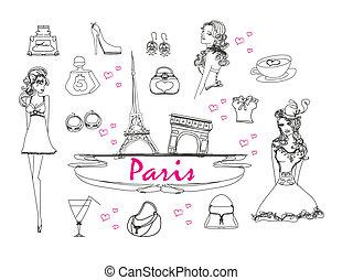 doodles, komplet, paryż