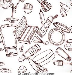 doodles, próbka, seamless