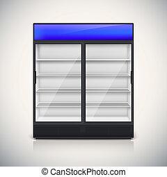 door., szkło, podwójny, lodówka