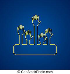 dopomagając ręce, tło, projektować