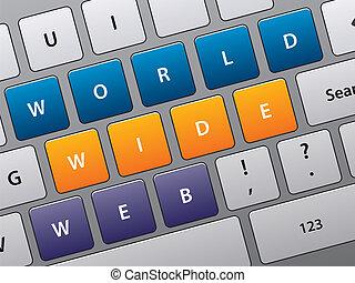 dostęp, klawiatura, internet