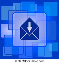 dostać, ikona, e-poczta