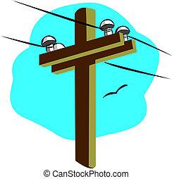 dostarczcie energii elektrycznej linę