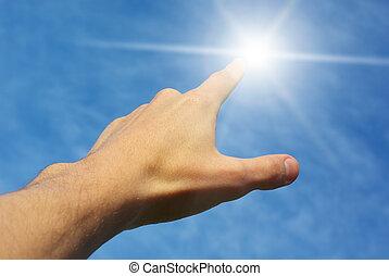 dotyk, słońce