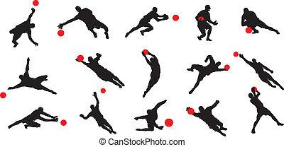 dozorca, piłka nożna, pozy, 15, gol