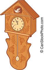 drewniana kukułka zegar