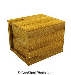 drewniana paka, odizolowany