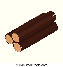 drewniany, isometric, kloc