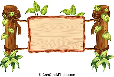 drewniany, natura, deska, czysty